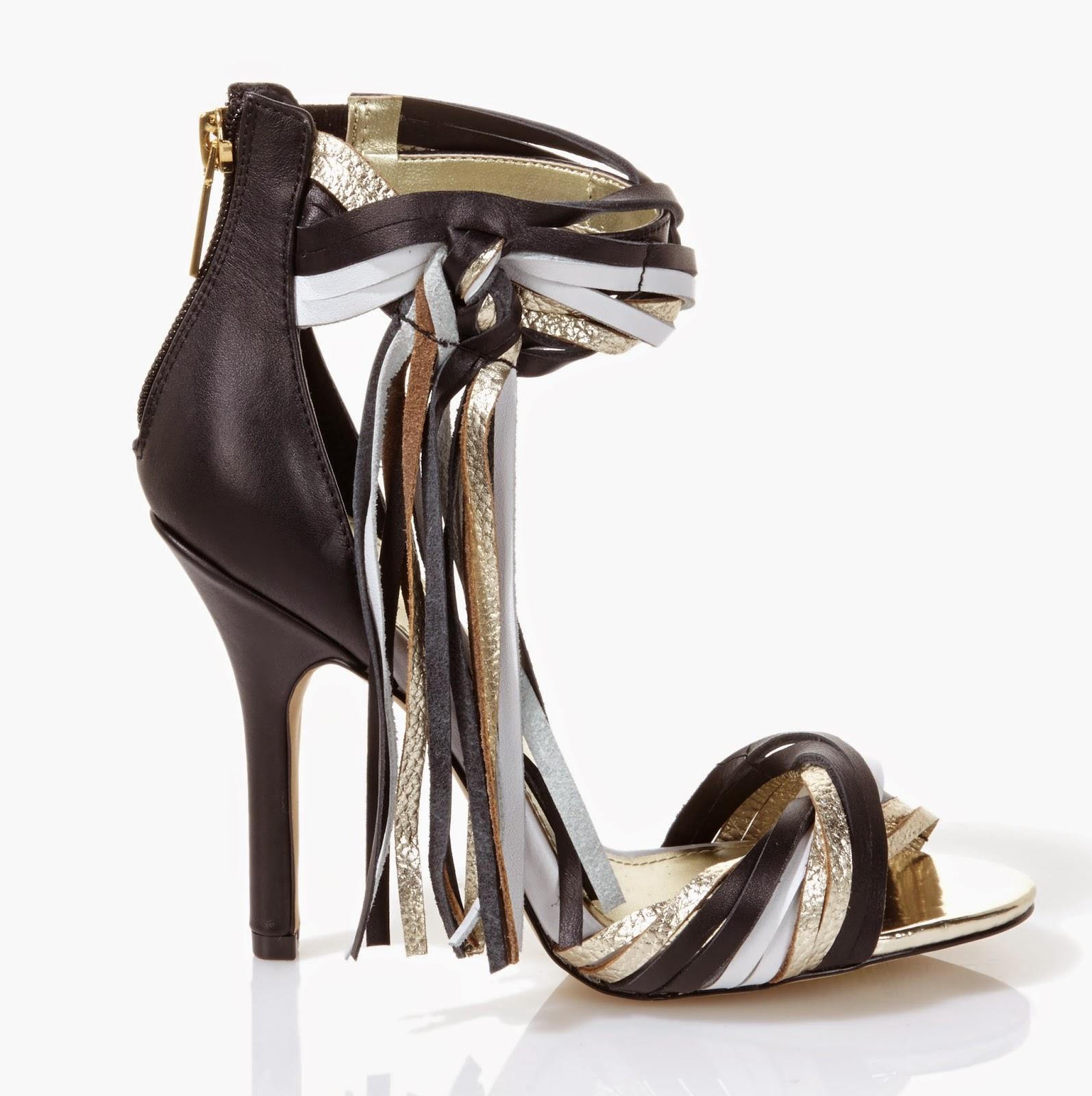 June Ambrose for HSN tri-color fringe sandal