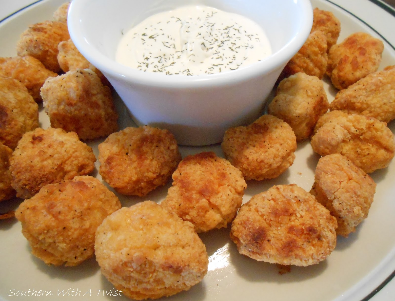 Southern With A Twist: Dilly Ranch Dip for Popcorn Chicken