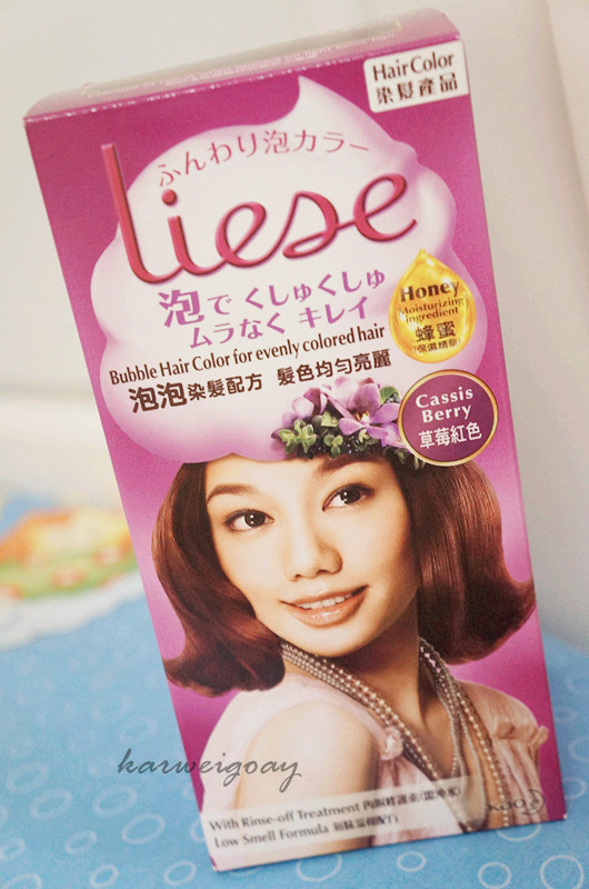 LIESE Bubble Hair Dye Cassis Berry  REVIEW  KWG39s