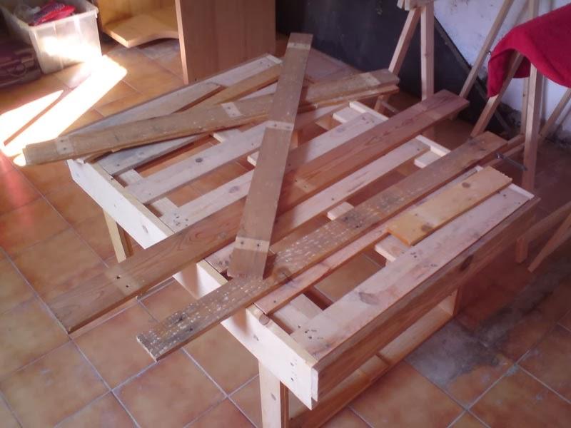 Diy mesa de centro hecha con palets - Mesa centro palets ...
