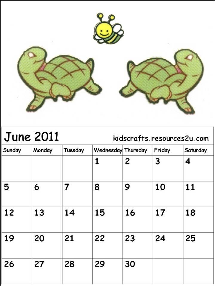 RKC1b+Cute+tutle+June+2011+calendar+for+children+kids.jpg