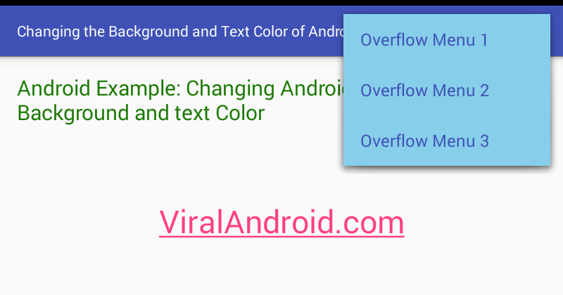 How to Change the Background and Text Color of Android