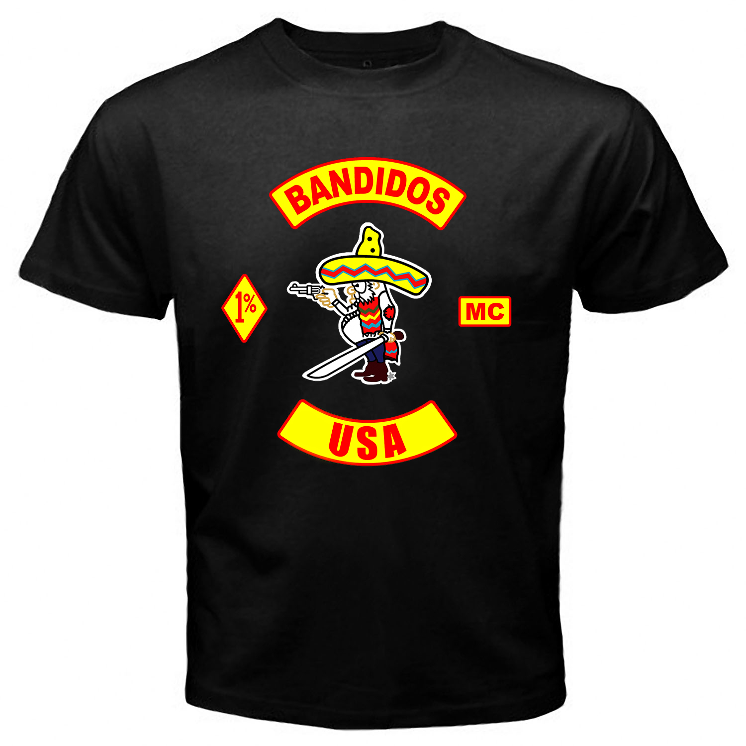Bandidos USA Black T-shirt One Side