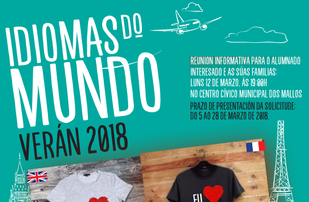 "CONVOCATORIA  ""IDIOMAS DO MUNDO 2018"""