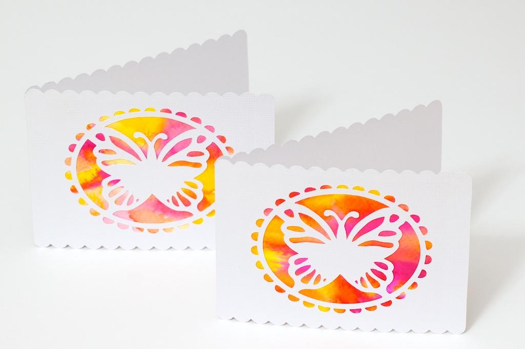 Äitienpäiväkortit vesiväritekniikalla