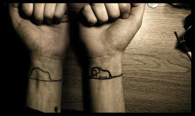 tatuaje el principito elefante boa sombrero