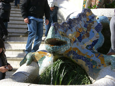 Dragon in Park Guell in Barcelona