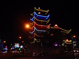 Vietnam nightife: pagoda. Ho Chi Minh City. Vietnam