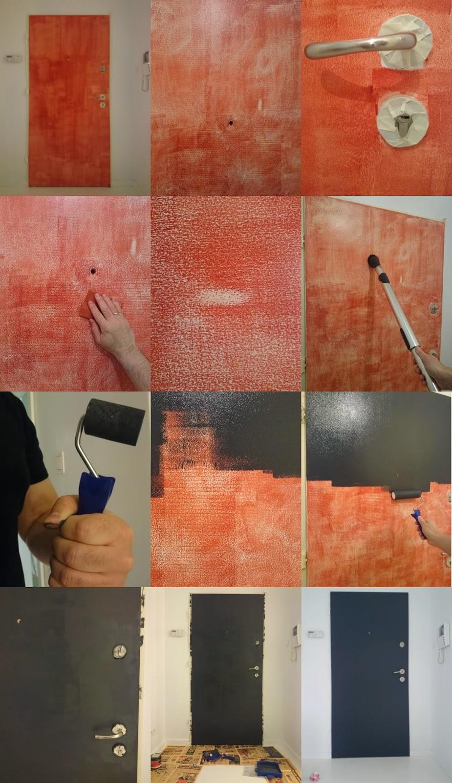 Malowanie drzwi farbą tablicową, farba tablicowa na drzwiach wejściowych