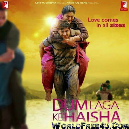 Poster Of Bollywood Movie Dum Laga Ke Haisha (2015) 300MB Compressed Small Size Pc Movie Free Download worldfree4u.com
