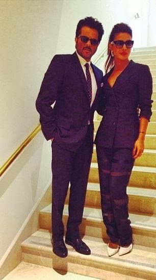 Priyanka Chopra & Anil Kapoor at the press conference of IIFA 2014 at Tampa Bay