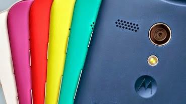 Warna-warni belakang Motorola Moto G