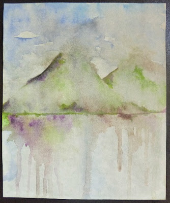 Carmen Wing - Purple Hills of Scotland - Watercolour Art Journal
