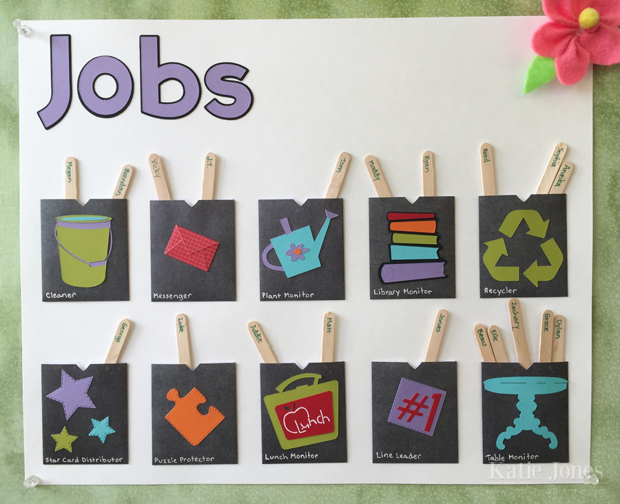 Classroom Design Jobs ~ Crafting with katie classroom job chart