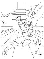 Mewarnai Gambar Pangeran Zuko Putra Raja Api Sedang Berlatih Diatas Kapal Perang