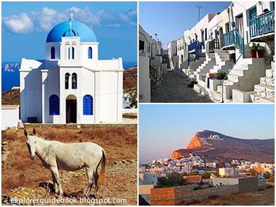 Tempat wisata di yunani santorini mykonos pulau paling indah di Yunani Folegandros