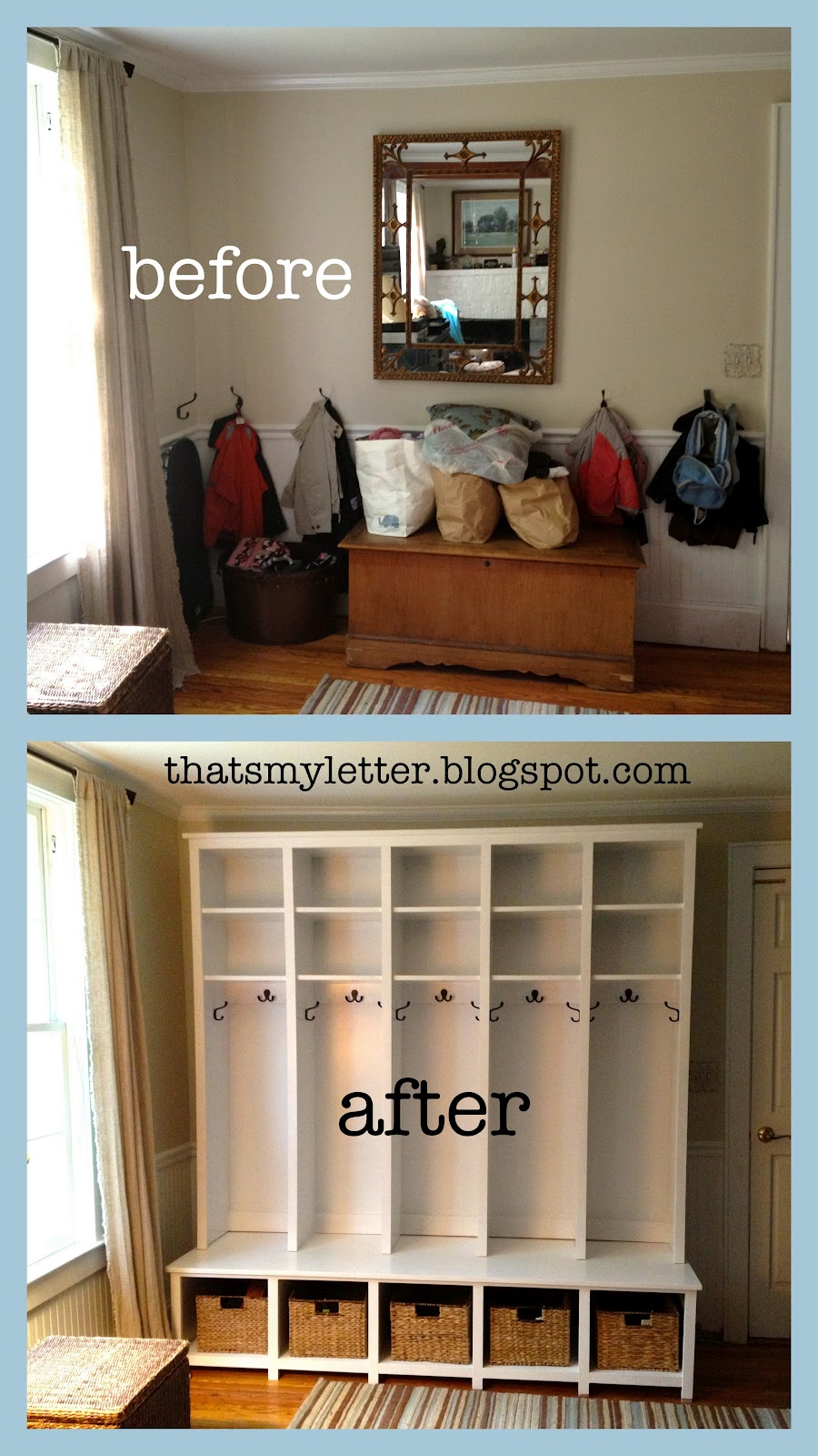 That's My Letter: DIY Locker & Bench Units