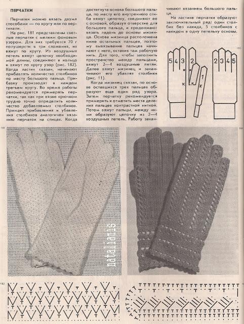 Вязать спицами перчатки со схемами