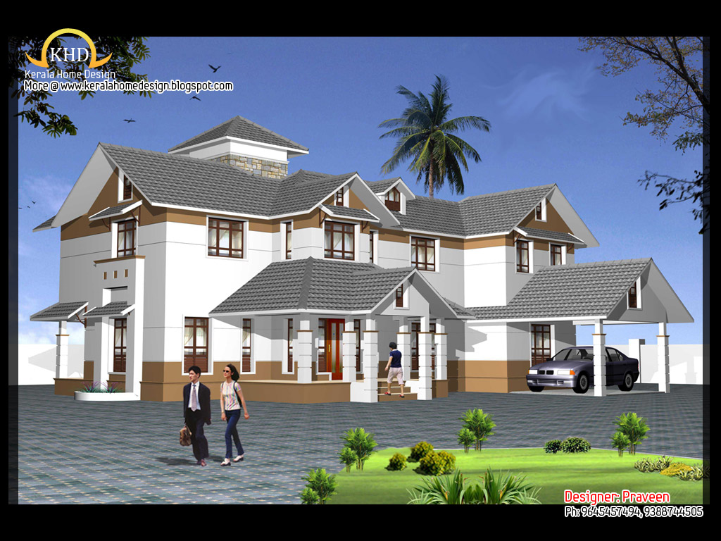 House elevation and plan 2900 sq ft architecture house for Indian house design architect