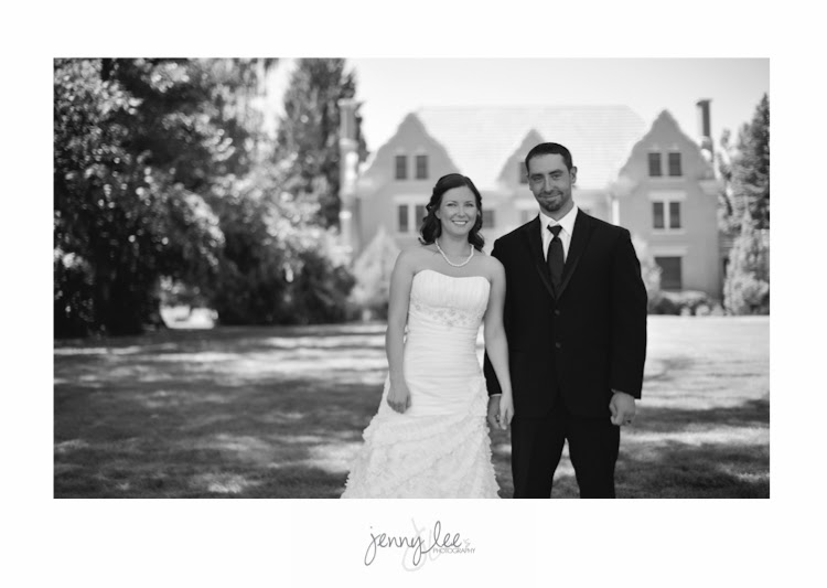 Classic Black and White Bride and Groom Photograph