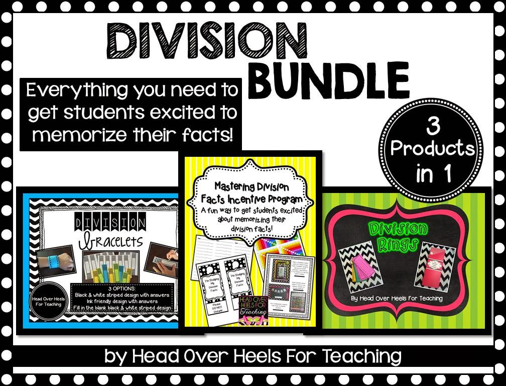 http://www.teacherspayteachers.com/Product/Division-Bundle-Everything-to-memorize-those-division-facts-1552054