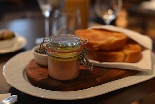 Chicken liver parfait jar