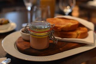 Chicken liver parfait jar