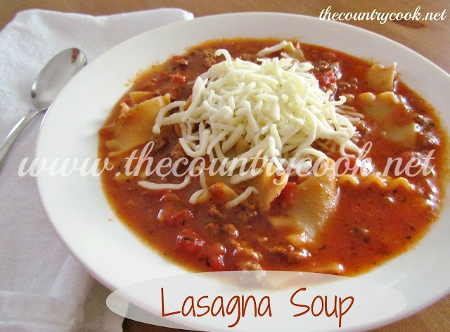 Lasagna Soup - The Country Cook