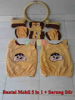 Bantal mobil set 5 in 1 plus sarung stir