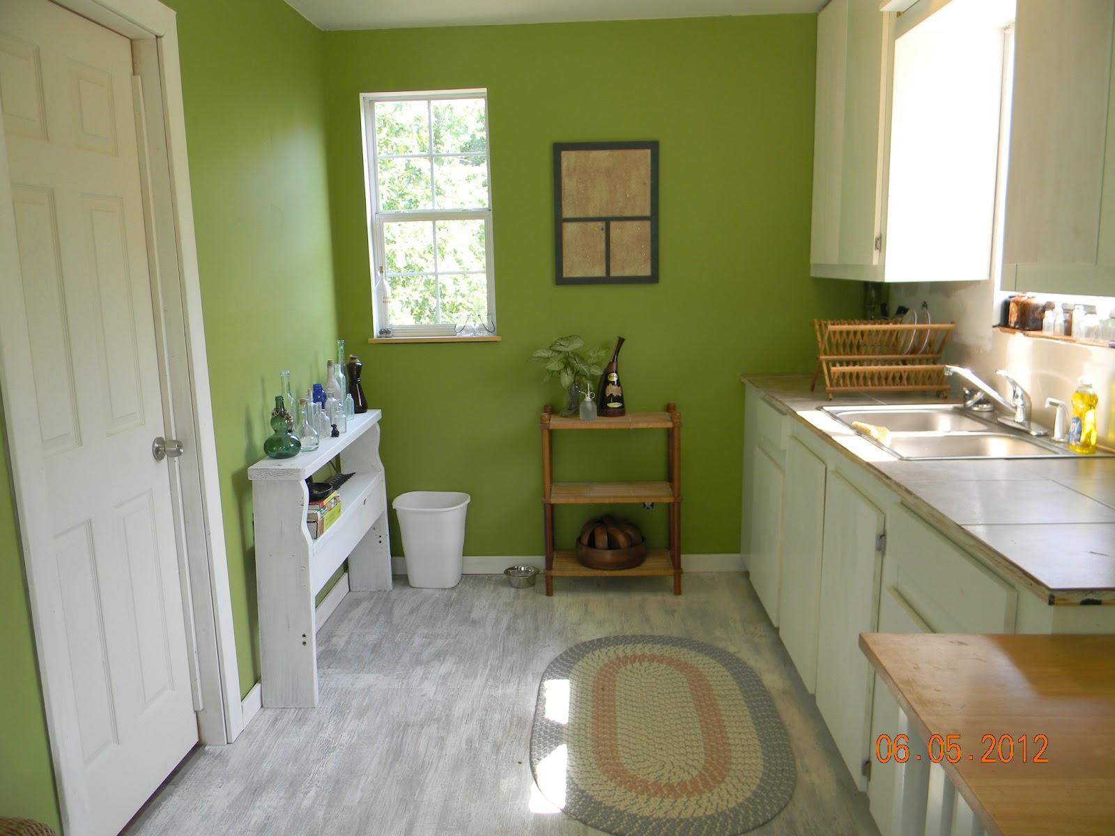DIY Painted Plywood Floor