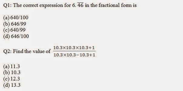 Decimal Fraction Questions and Answers