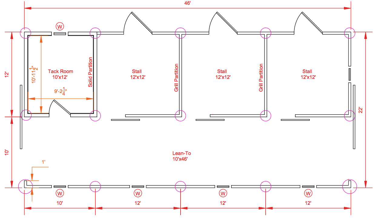 building managing the small horse farm small barn On barn layout plans