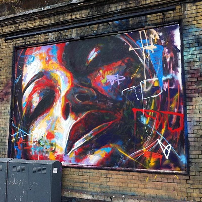 David walker new mural in london streetartnews for Airbrush mural painting