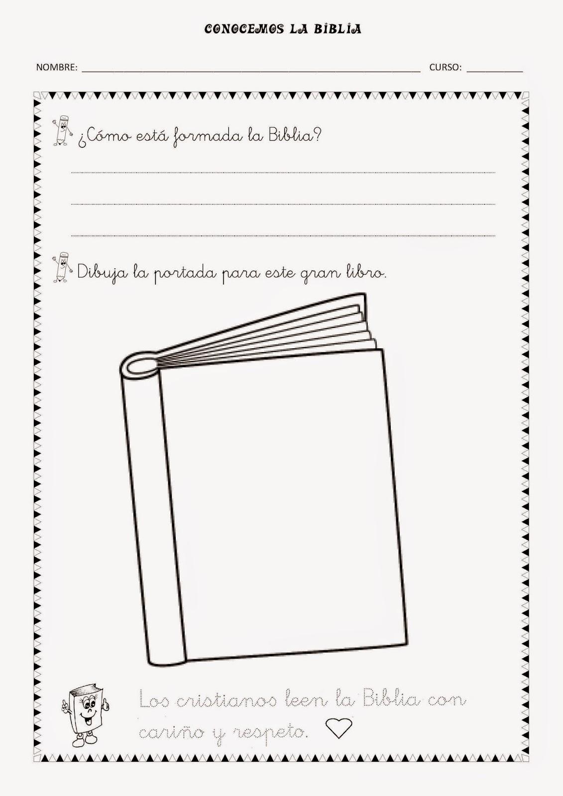 paginas para colorear de la biblia