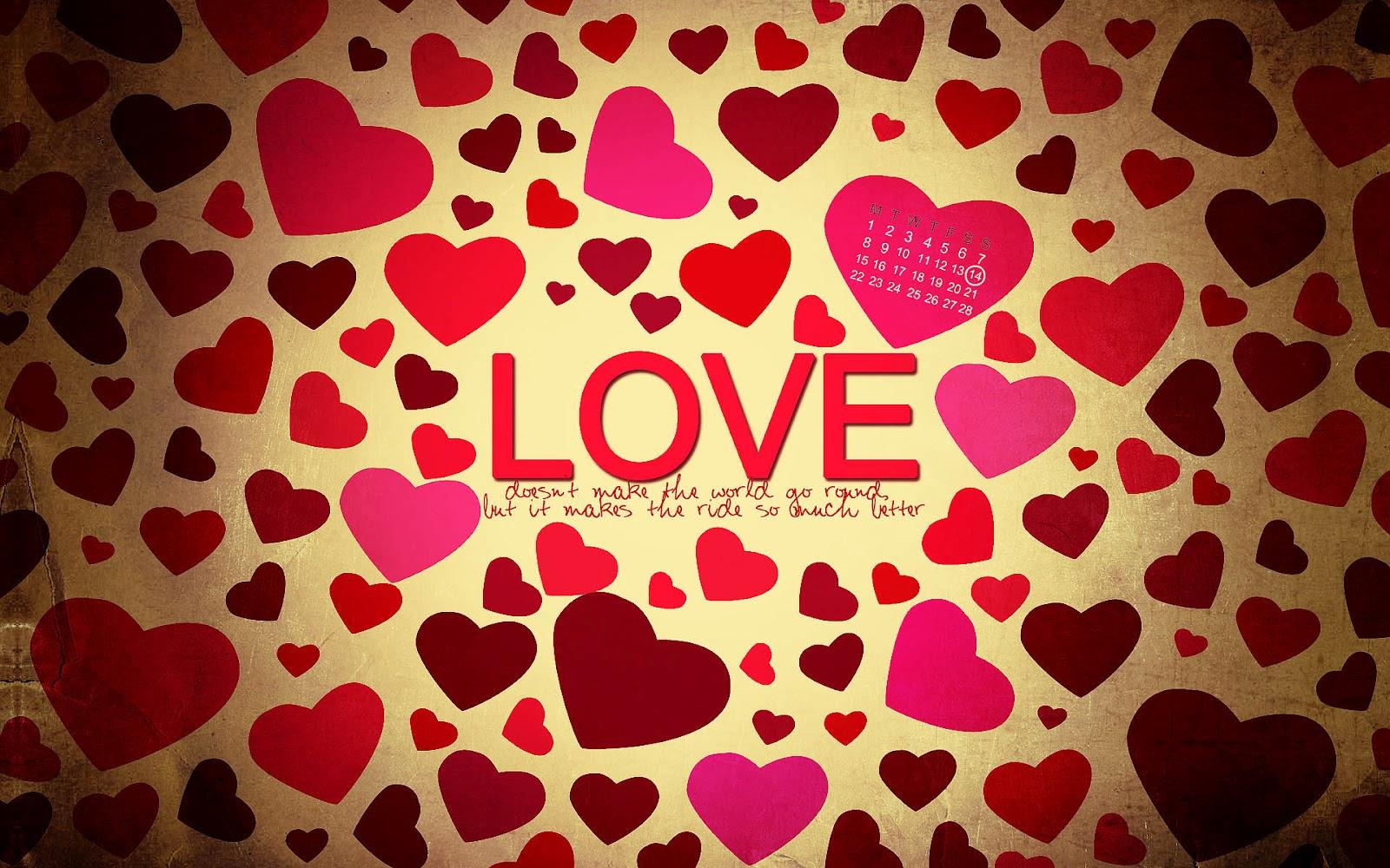 Liefde achtergrond met rode hartjes | HD Achtergrond - Wallpaper