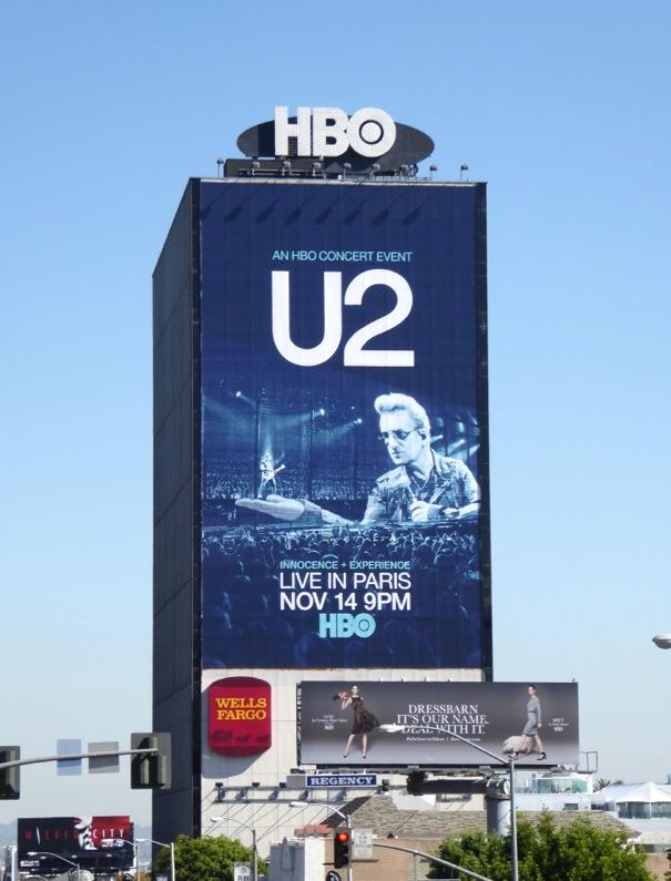 Giant U2 Live in Paris HBO billboard