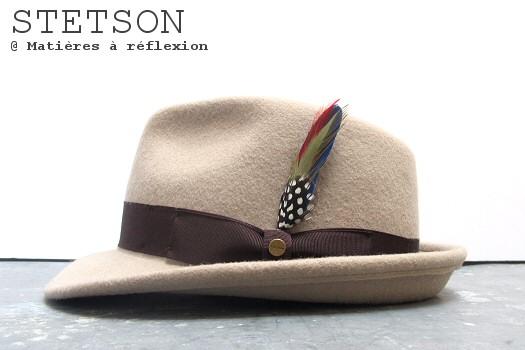 Chapeau Stetson pour homme : un feutre beige pour cet hiver ?