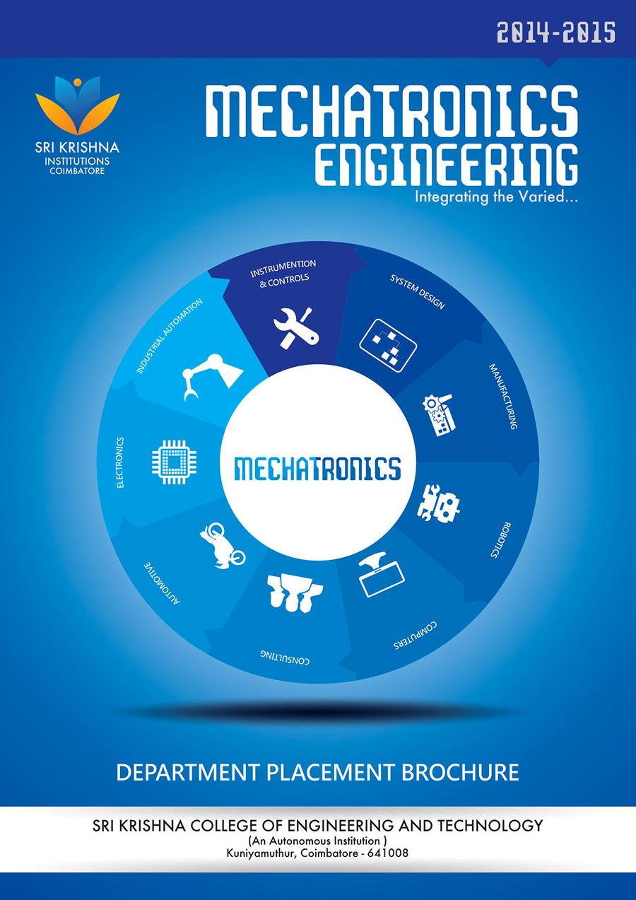 Mechatronics engineering department placement brochure 2014 for Placement brochure design