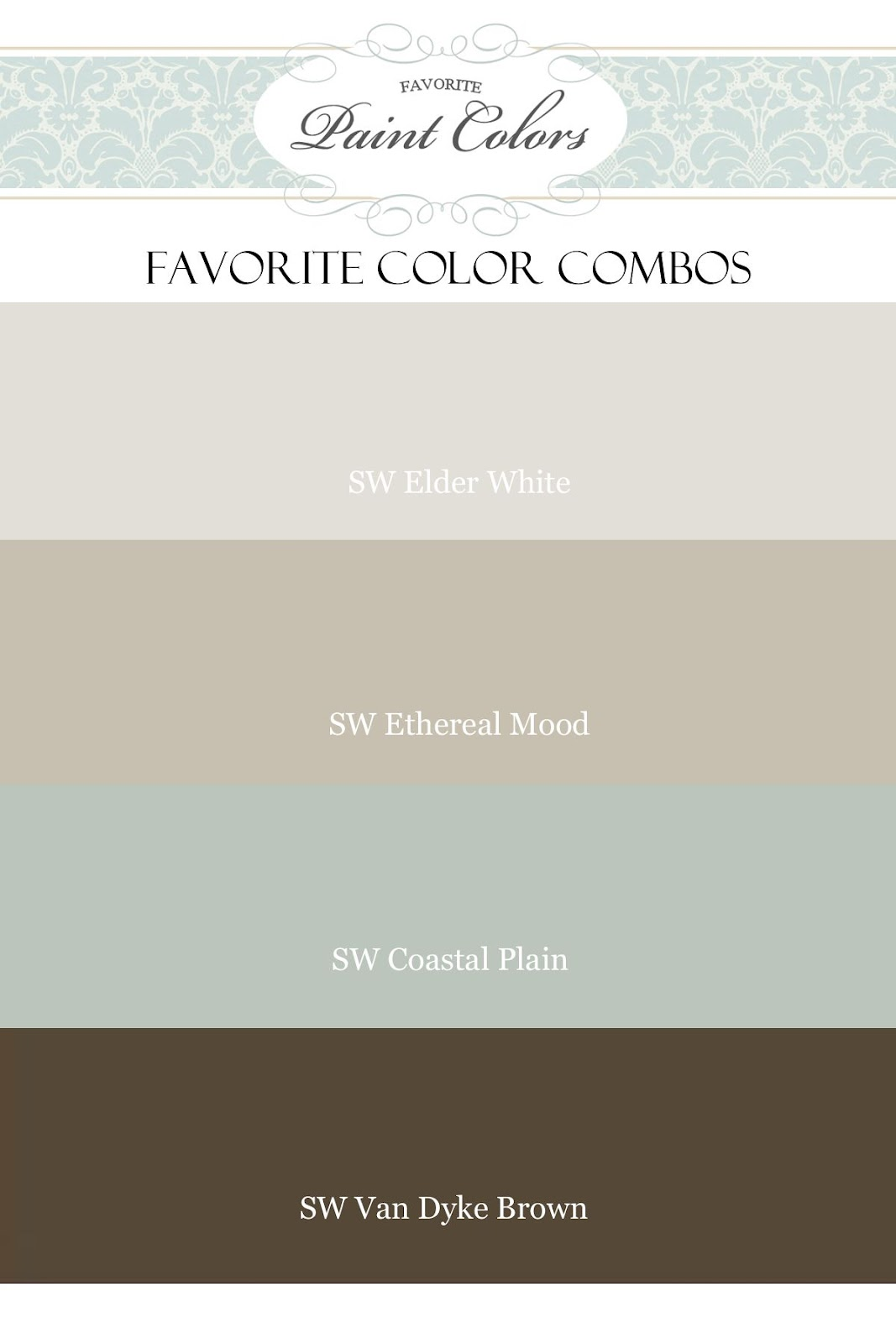 Favorite paint colors new blog design and features for Paint colors that go together