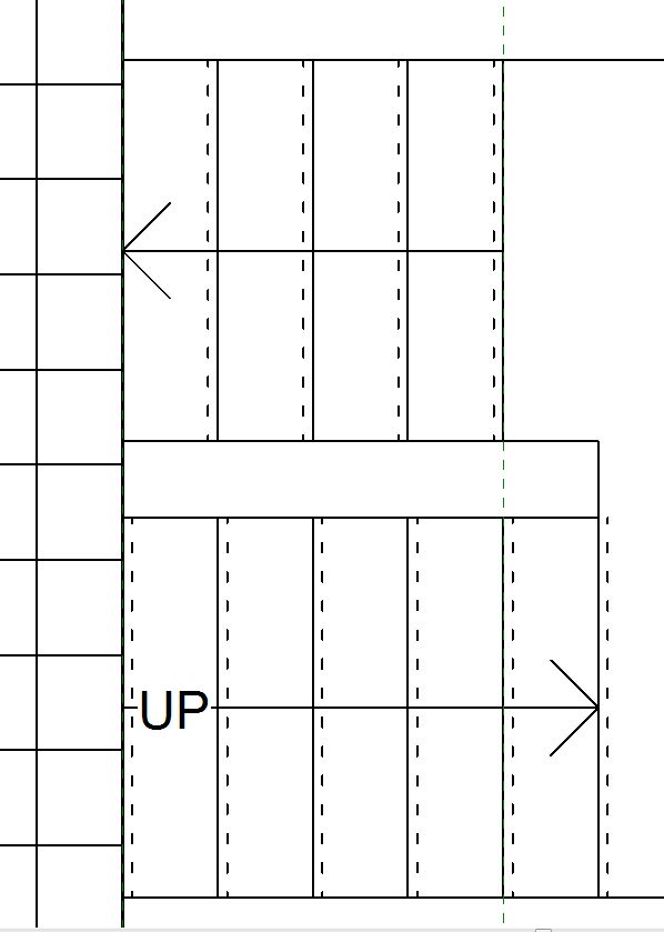 Normal Architectural Plan View Of Stair