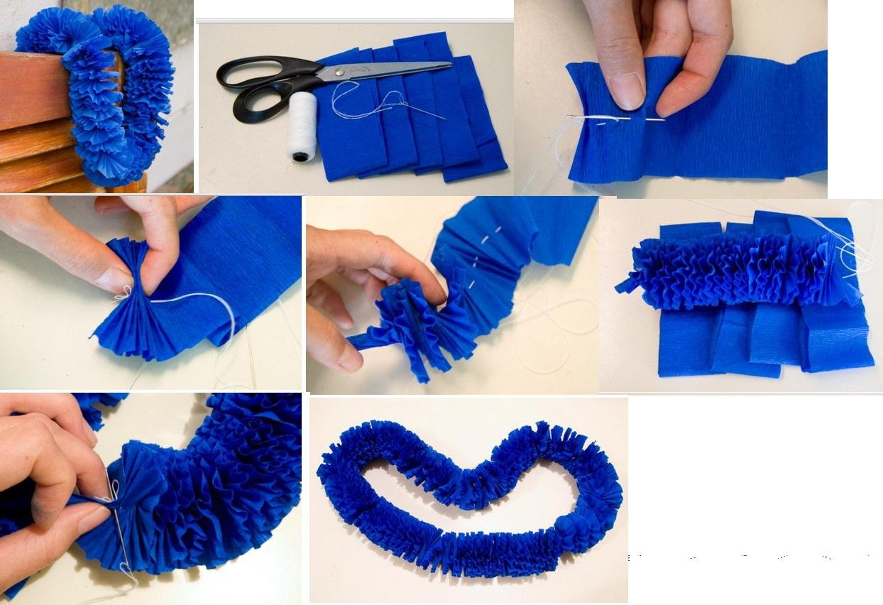 beautiful como hacer una guirnalda de papel crepe with como hacer una guirnalda - Como Hacer Una Guirnalda