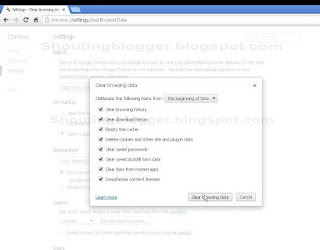 Clear History in Google Chrome