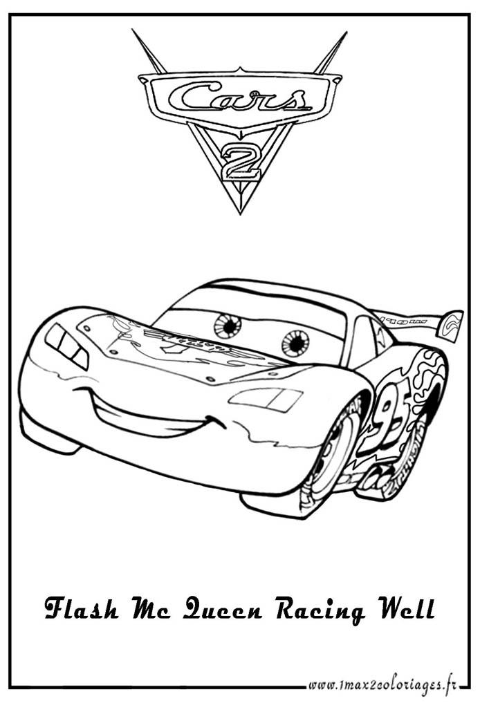 Aprende brincando pintar desenhos do cars - Coloriage flash mcqueen 2 ...