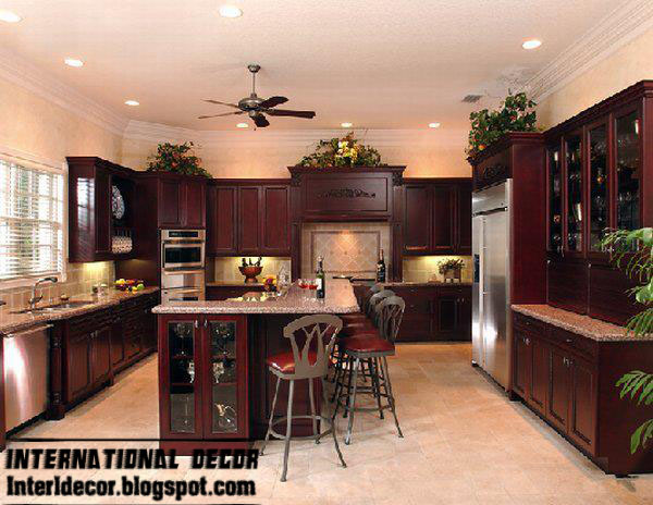Luxury Wood Kitchen Furniture Classic Wood Kitchen Cabinets Design