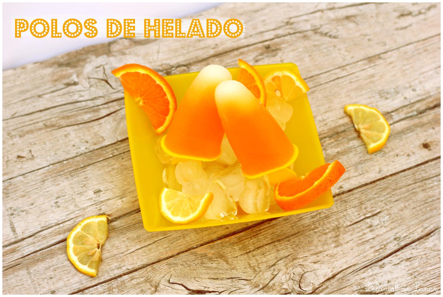 Foto: Receta polos de helado de melón y zumo de mandarina