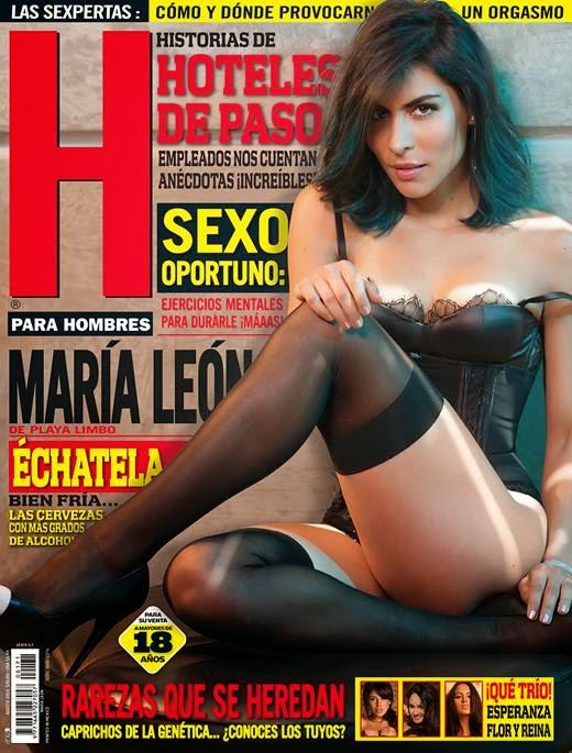 Maria Leon de Playa Limbo en la Revista H para Hombres 2013