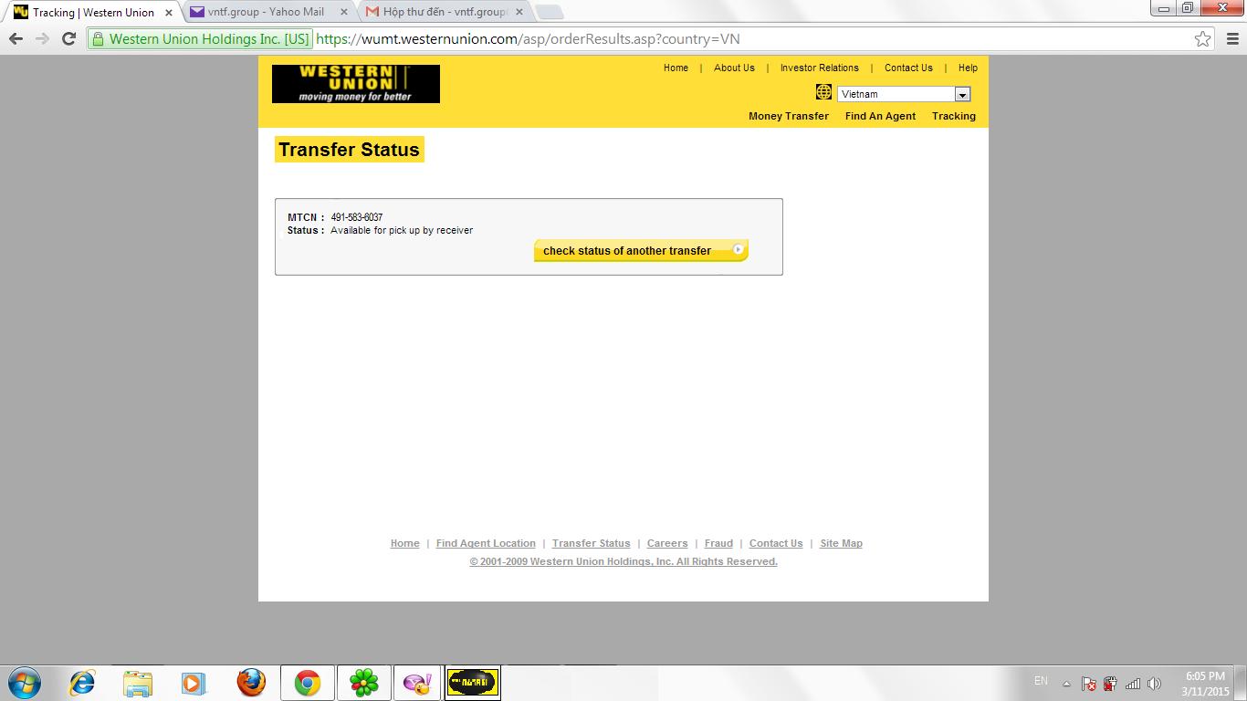 Transfer WU Professional V1pro ver1 80 2014