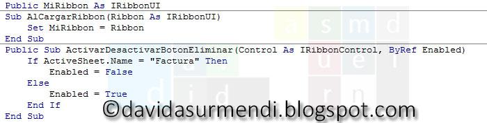 Código de la Macro que se llama en onLoad.