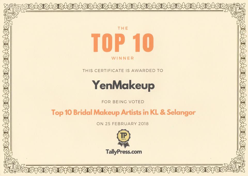 TOP10 Bridal Makeup Artist KL/SEL