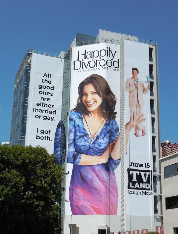 Giant Happily Divorced TV Land billboard